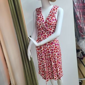 Diane Von Furstenberg Silk Lady Bug 🐞 Wrap Dress